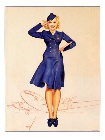George Petty Air Hostess. From VinMag.